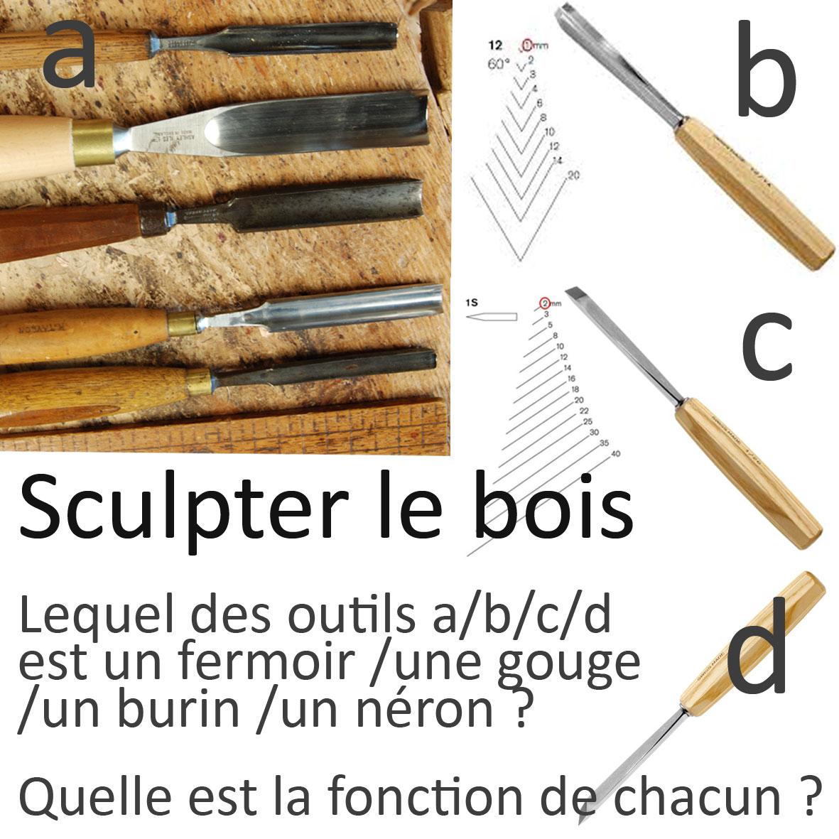 Quiz sculpter le bois  cest quoi ces outils ?  Ecoute le Bois ~ Sculpter Le Bois
